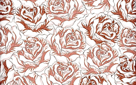 Tex - texture, pattern, brown, rose, flower, paper, white