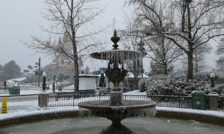 snow disney - architecture, paris, snow, disney