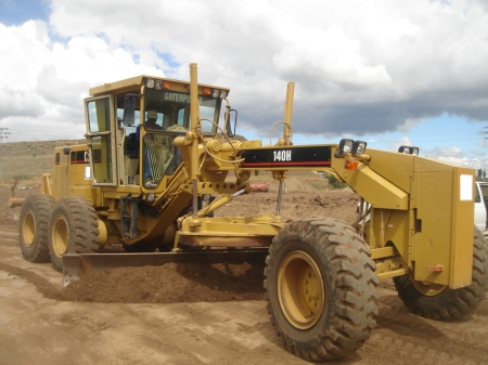 caterpillar 140h grader - caterpillar, sand, grader, earth, mover