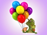 Dragon with Balloons