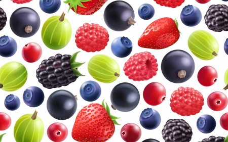Texture - red, pattern, goseberry, strawberry, fruit, berry, green, blueberry, texture, paper, raspberry, redberry, blue
