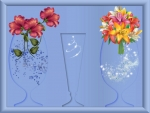 Crystal Vases-Shadow Frame