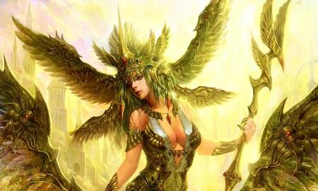 Nike goddess of triumph fantasy abstract background - Fantasy nike wallpaper ...