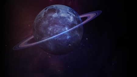Saturn - saturn, space, fantasy, luminos, purple, planet, cosmos