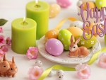 Easter Candle Centerpiece
