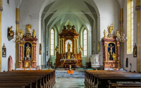 Church Altar - interior, Christianity, altar, church