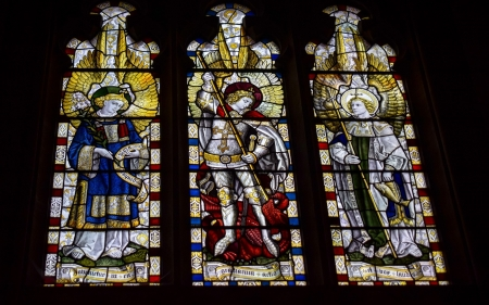 Angels of God - Angels, church, England, stained glass