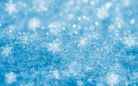 Sparkly Blue Snowflakes - crystals, shapes, snowflakes, glittery, illustration, teal, 1920x1200, blue, sparkly