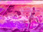 Purple Tomb Raider Lara Croft HD