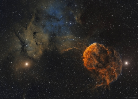 Sharpless 249 and the Jellyfish Nebula - galaxies, space, stars, planets, cool, fun