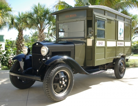 1929 ford model a us mail truck - truck, mail, model, ford