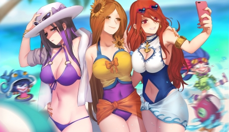 Miss fortune, leona, and caitlyn - miss fortune, leona, caitlyn, league of legends