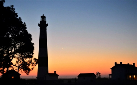 Bodie Island Lighthouse, Nags Head,N.C - Nags Head, Bodie Island, Sunrise, Lighthouse, NC