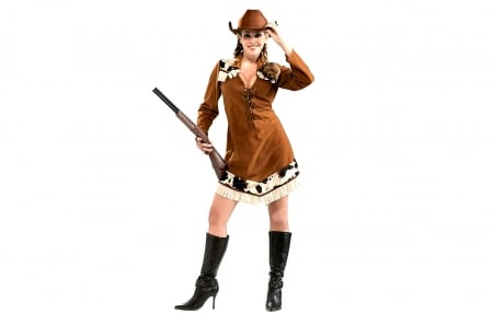 Annie Oakley . . - hats, boots, cowgirl, shotgun, women, NRA, fashion, style, western, blondes