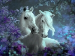 Beautiful Horses and Flowers