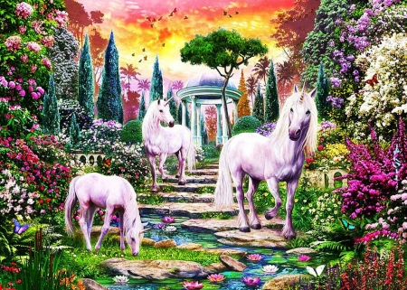 Unicorn Valley - special, msystical, unicorn, horn, place, creatures, horse, valley