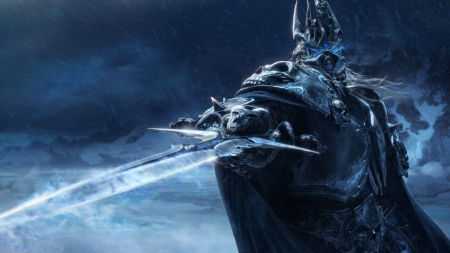 the lich king - king, warcraft, world, lich, sword