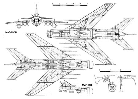 Mig-19 Layout - military, aircraft, fighter