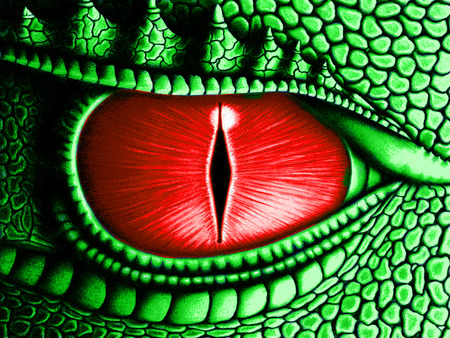 New Dragon Eye - awesome, red eye, nice, abstract