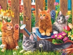 Springtime Kitties