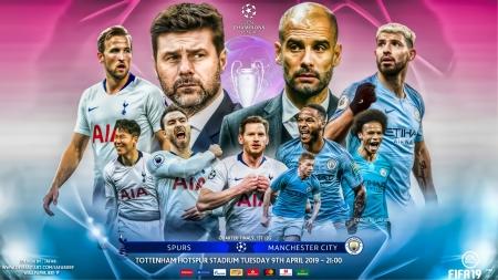 Tottenham Vs Manchester City Soccer Sports Background