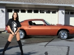 1974 Camero Z28 with Adriana Chechik