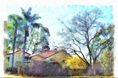 Old railway house edited - photography fun, editing, photo editing, DAP, make my photo a painting