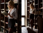 Ekaterina Zueva as a sexy blonde librarian