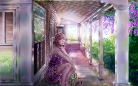 :-) - art, fantasy, girl, purple, manicure, sillselly, punk, wisteria