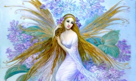 Lovely Angel - Pastels, delicate, lovely, Angel, paintings, beautiful