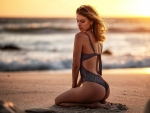 Swimsuit Model at Sunset