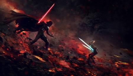Darth Vader Vs Ashoka Tano Movies Entertainment Background