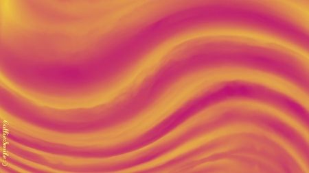 Wavy Pink & Yellow Cloud Abstract - golden yellow, pink, b1urred, stripes, waves, abstract