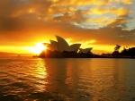 Sunset on the Sydney Opera House, Australia