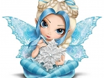 Blue Fairy With Snow flake