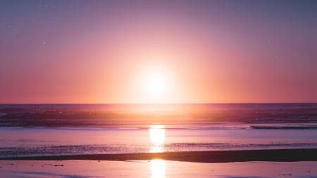 Sunset Beach Sunsets Nature Background Wallpapers On Desktop