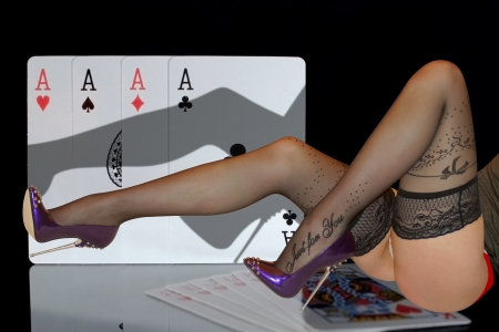 Sexy Legs And Cards 3d And Cg Abstract Background Wallpapers