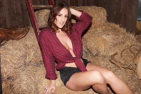 Alone In The Hay . . - cowgirl, ranch, ladder, hay, women, barn, brunettes, Stacey Poole, style, western