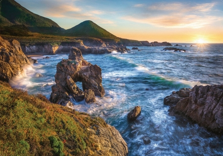 Big Sur California Beaches Nature Background Wallpapers