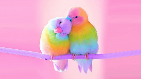 Lovebirds Fantasy Abstract Background Wallpapers On Desktop Nexus Image 2478164