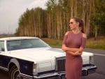 Eva Lunichkina and her Lincoln