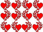 Hearts & Leaves Pattern