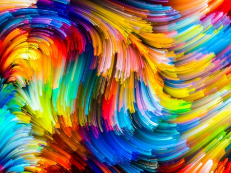 Vibrant Colored Abstract - colors, vibrant, brushes, abstract