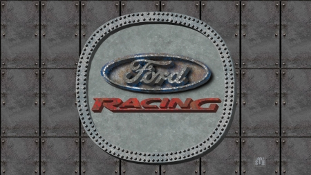 Ford Racing old steel logo - Ford & Cars Background
