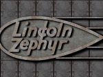 Lincoln Zephyr old steel logo
