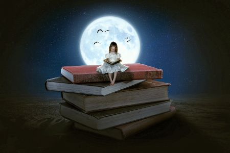 Reading Book Fantasy Abstract Background Wallpapers On