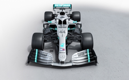 2019 Mercedes-AMG W10 - vehicles, f1, cars, gradient background, 2019 Mercedes-AMG W10, mercedes, race cars