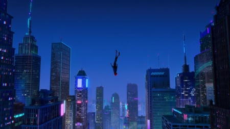 spiderman into the spiderverse - spiderman, jump, spider, wallpaper