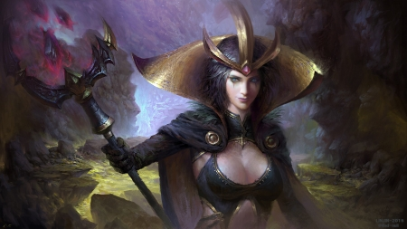 LeBlanc - luminos, girl, art, fantasy, leblanc, lol