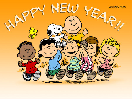 Happy New Year - snoopy, Woodstock, charlie brown, happy new year, Peanuts